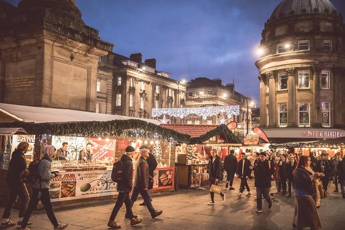 kerstmarkten newcastle engeland