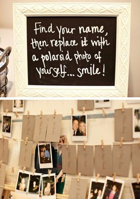 Originele huwelijk ideeën: Polaroid foto's
