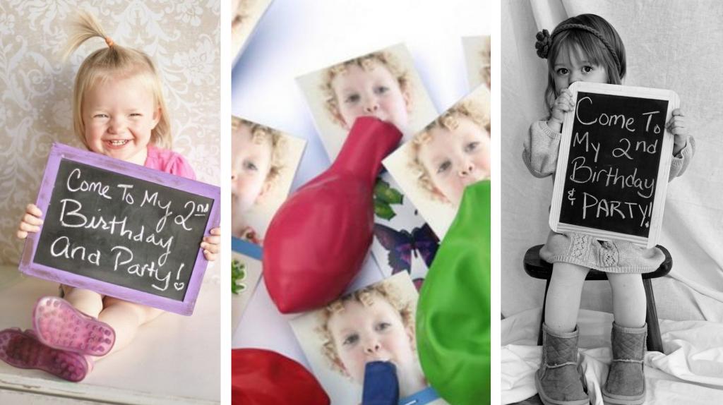 uitnodigingen voor een kinderfeestje Een fotouitnodiging