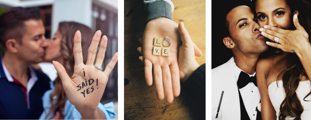 fiançailles mains