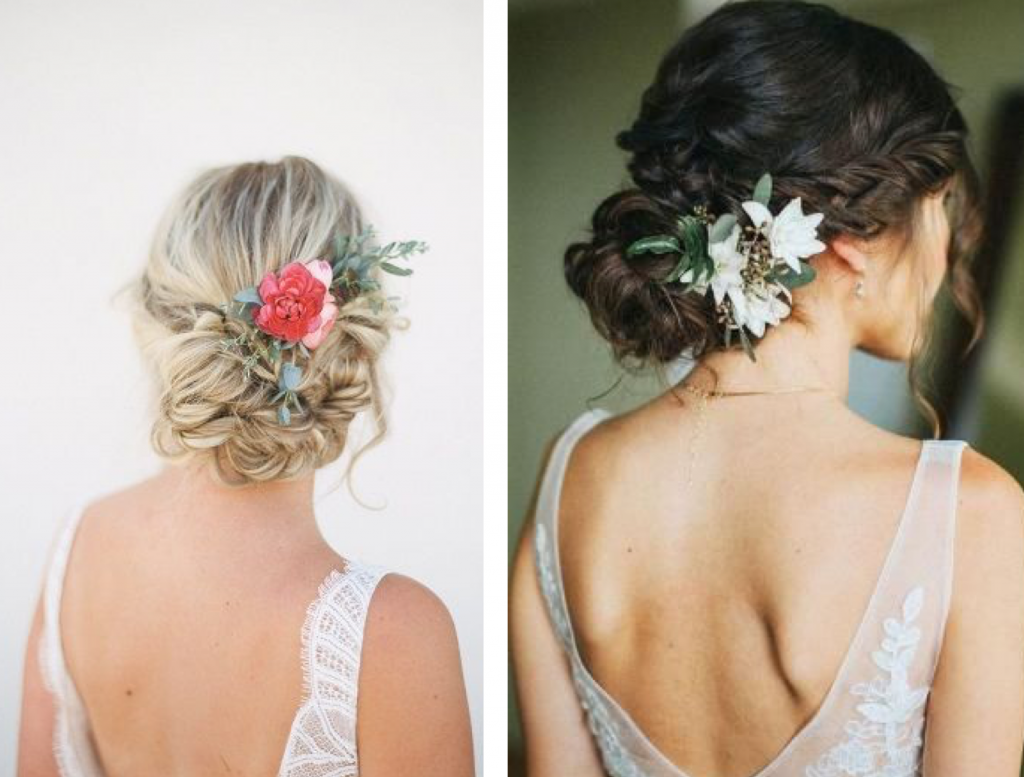 bloemen bruidskapsel