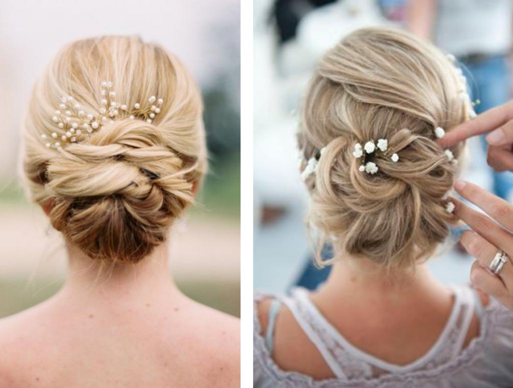 coiffure de mariage chignon
