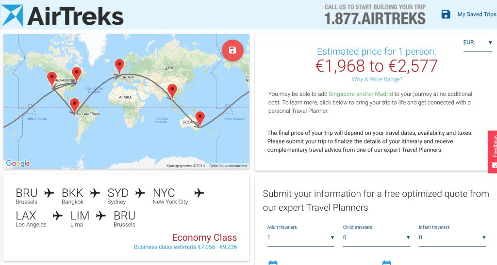 wereldreis budget
