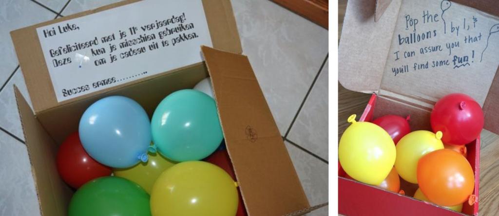 ballonnen geld cadeau geven